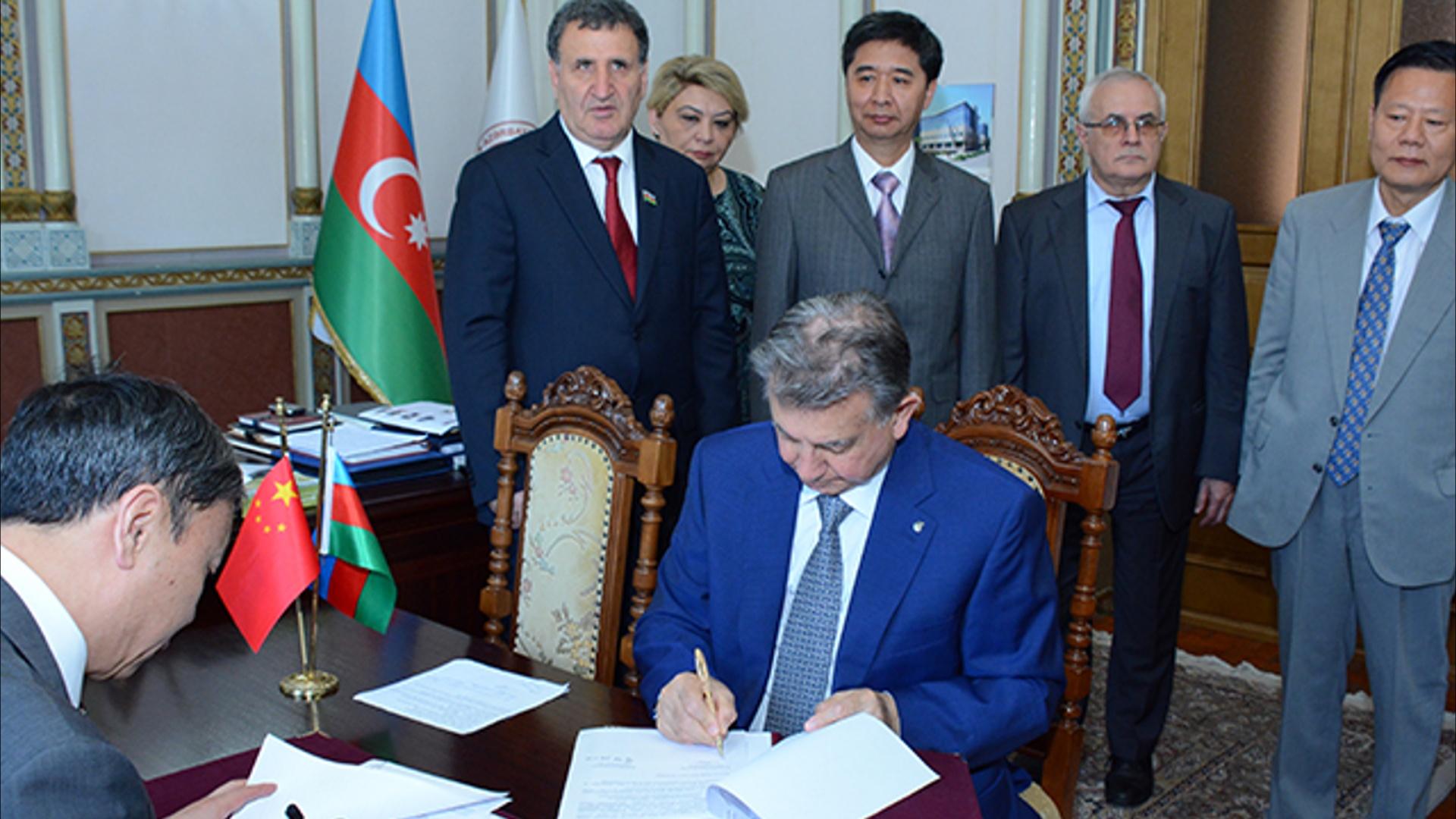 Çin İctimai Elmlər Akademiyası ilə əməkdaşlıq müqaviləsi imzalanıb