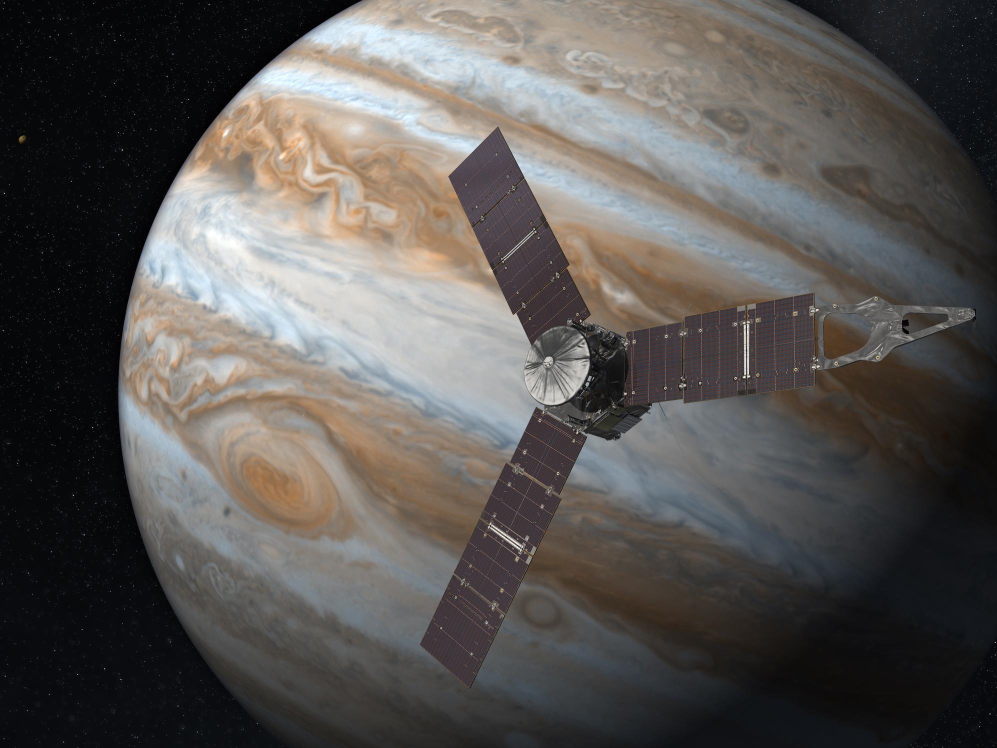 Juno kosmik gəmisinin iyulun 4-də Yupiterə enməsi ilə nələr baş verəcək