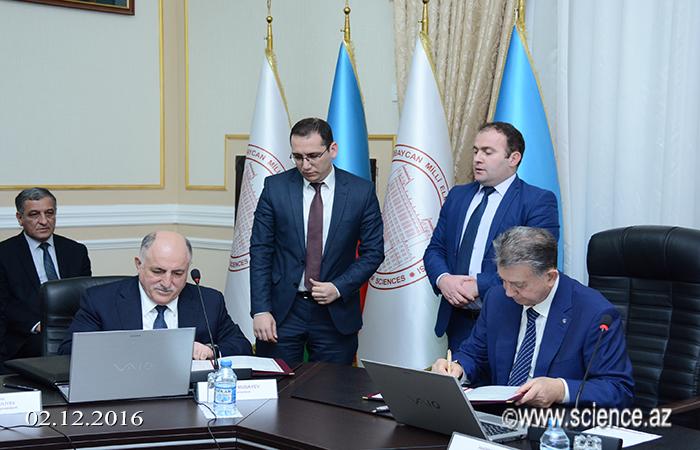 Milli Elmlər Akademiyası ilə Azərbaycan Respublikası Sahibkarlar Təşkilatları Milli Konfederasiyası arasında memorandum imzalanıb