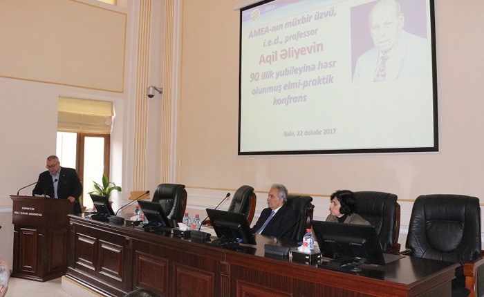 Görkəmli alim Aqil Əliyevin 90 illiyinə həsr olunmuş elmi-praktik konfrans keçirilib