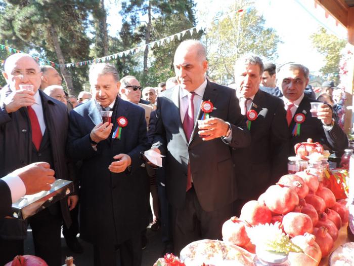 Azərbaycan Milli Elmlər Akademiyası nümayəndə heyəti  Göyçayda XIII Nar festivalında iştirak edib