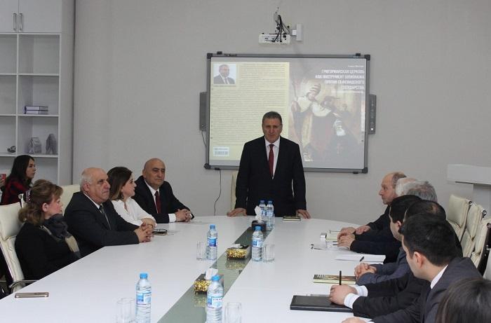 """""""Qriqorian kilsəsi Səfəvilər dövlətinə qarşı casusluq aləti kimi"""" kitabının təqdimatı olub"""