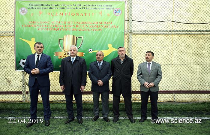 Gənc Alim və Mütəxəssislərin VI İnstitutlararası Futbol Çempionatının açılışı olub