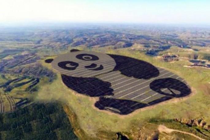 Panda şəklində günəş enerjisi stansiyası qurulub