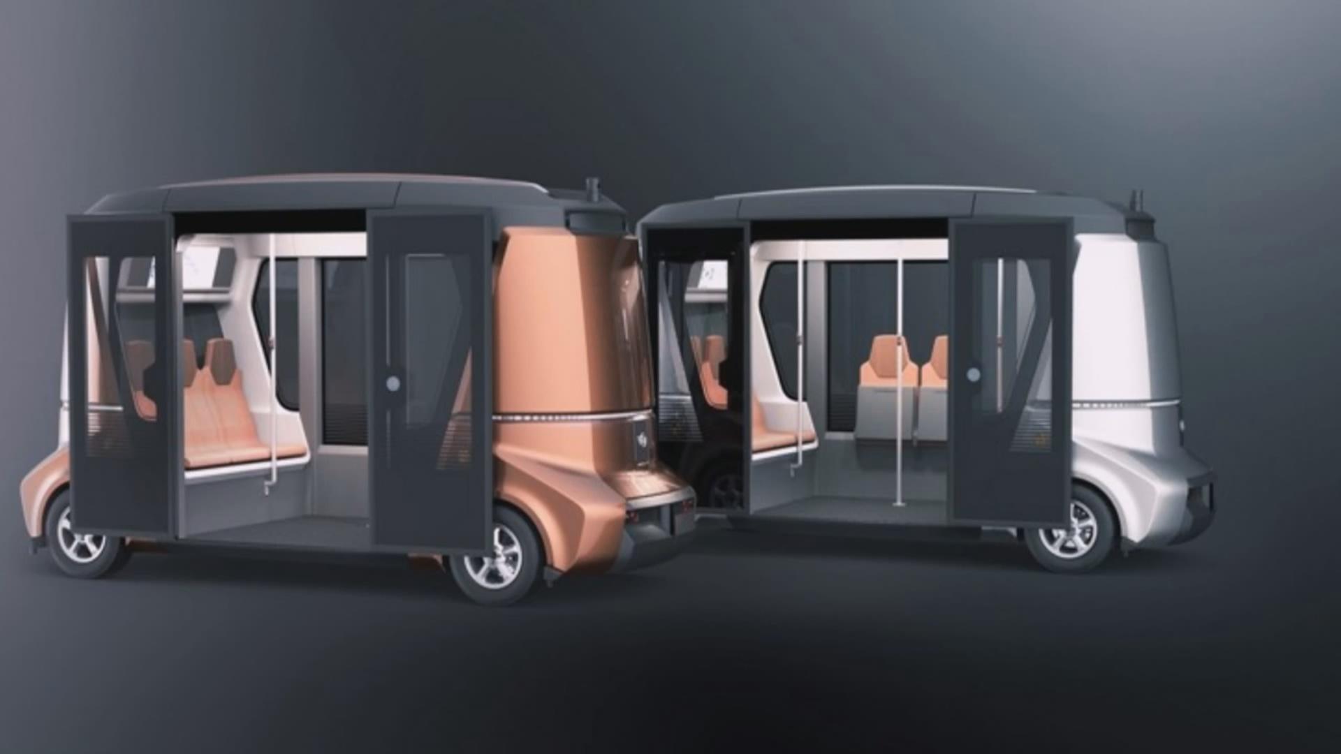 Elektrik enerjisi ilə işləyən sürücüsüz avtobuslar sınaqdan keçirilir
