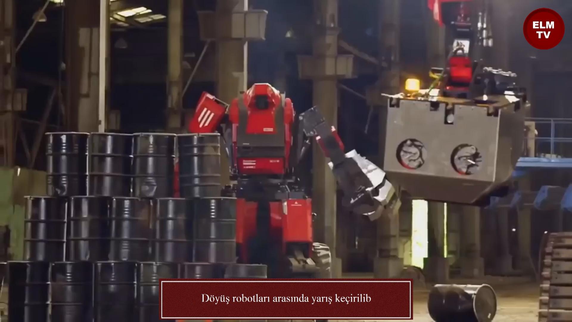 Döyüş robotları arasında yarış keçirilib