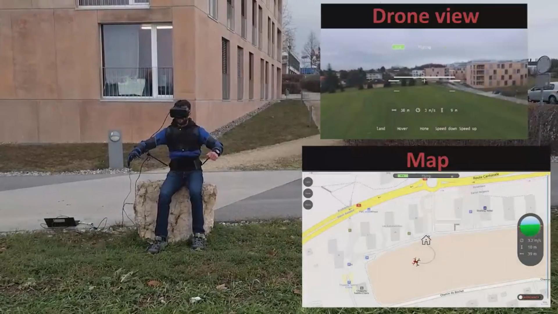 Dron ekzoskelet vasitəsilə idarə olunacaq