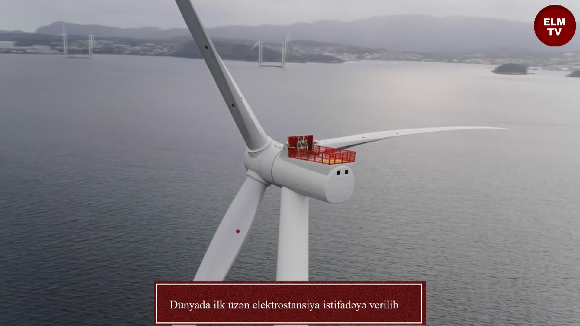 Dünyada ilk üzən elektrostansiya istifadəyə verilib