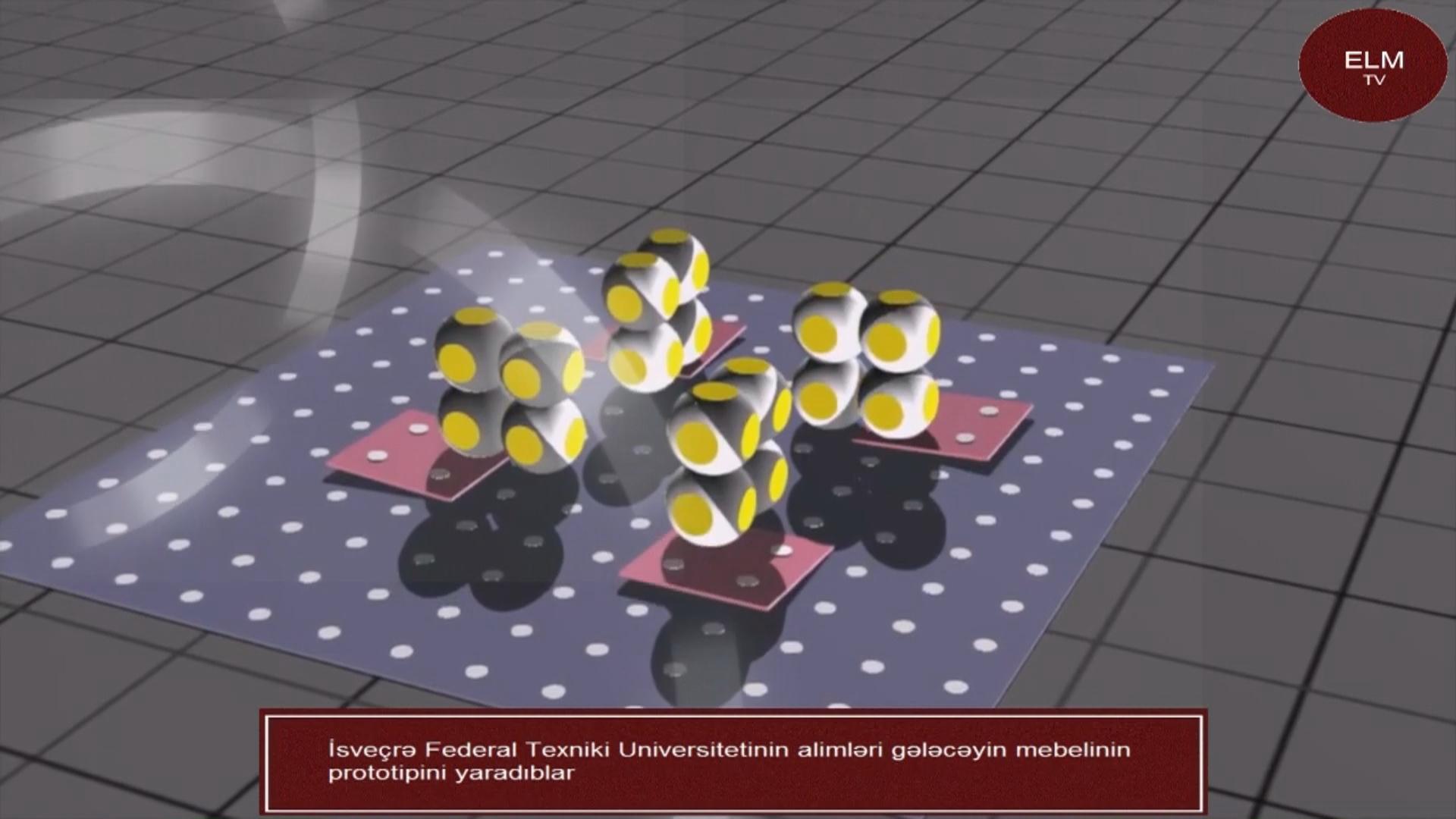 İsveçrə Federal Texniki Universitetinin alimləri gələcəyin mebelinin prototipini yaradıblar