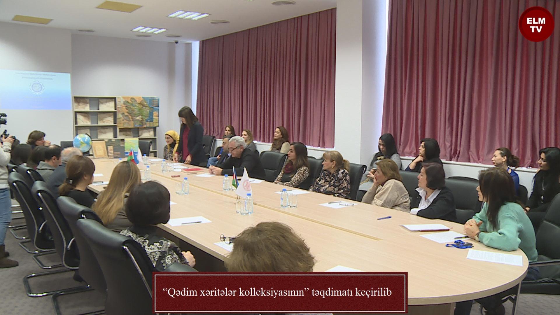 """""""Qədim xəritələr kolleksiyasının"""" təqdimatı keçirilib"""