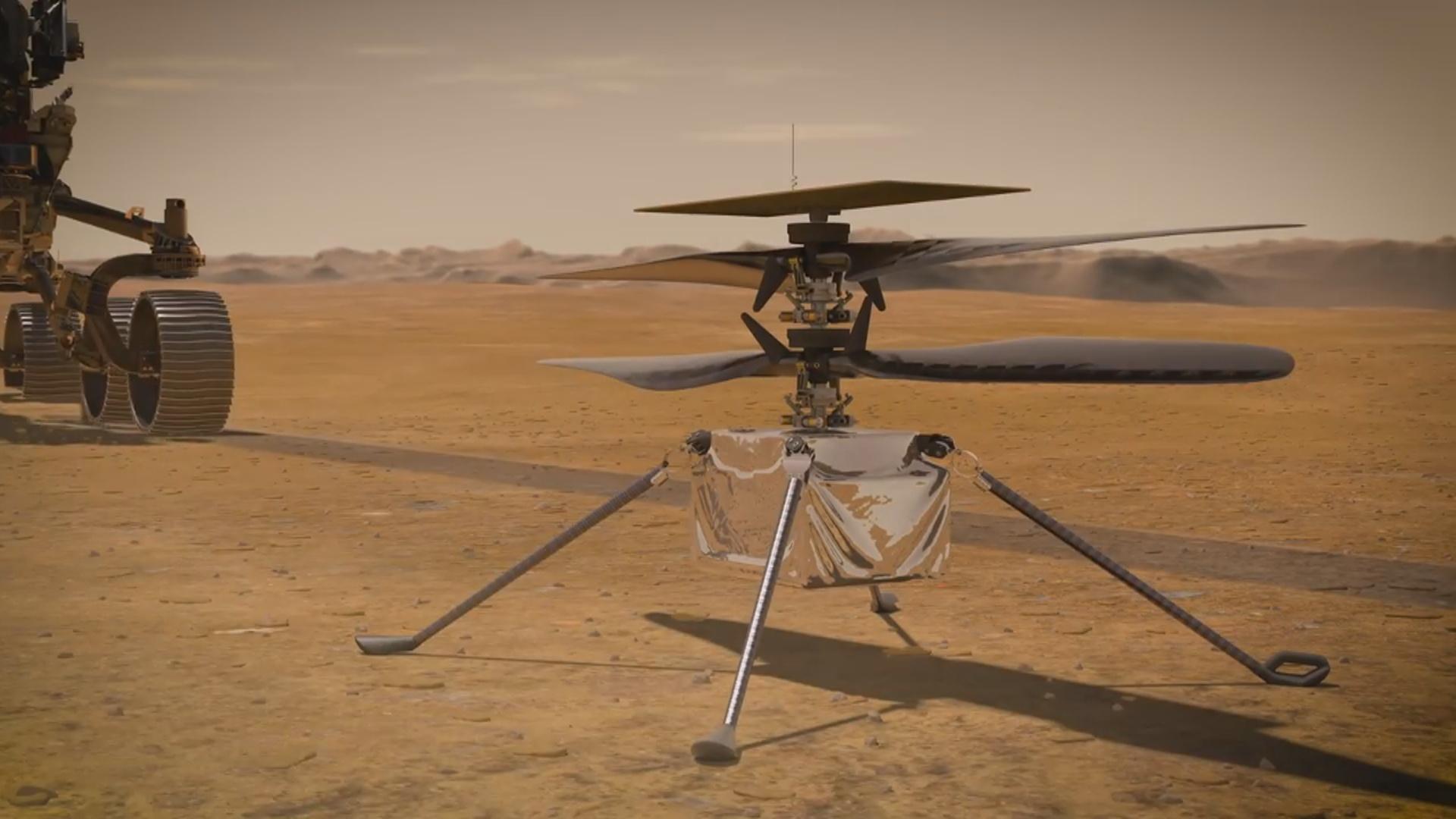"""""""İngenuity"""" helikopteri Mars səthində uçuşa hazırlaşır"""