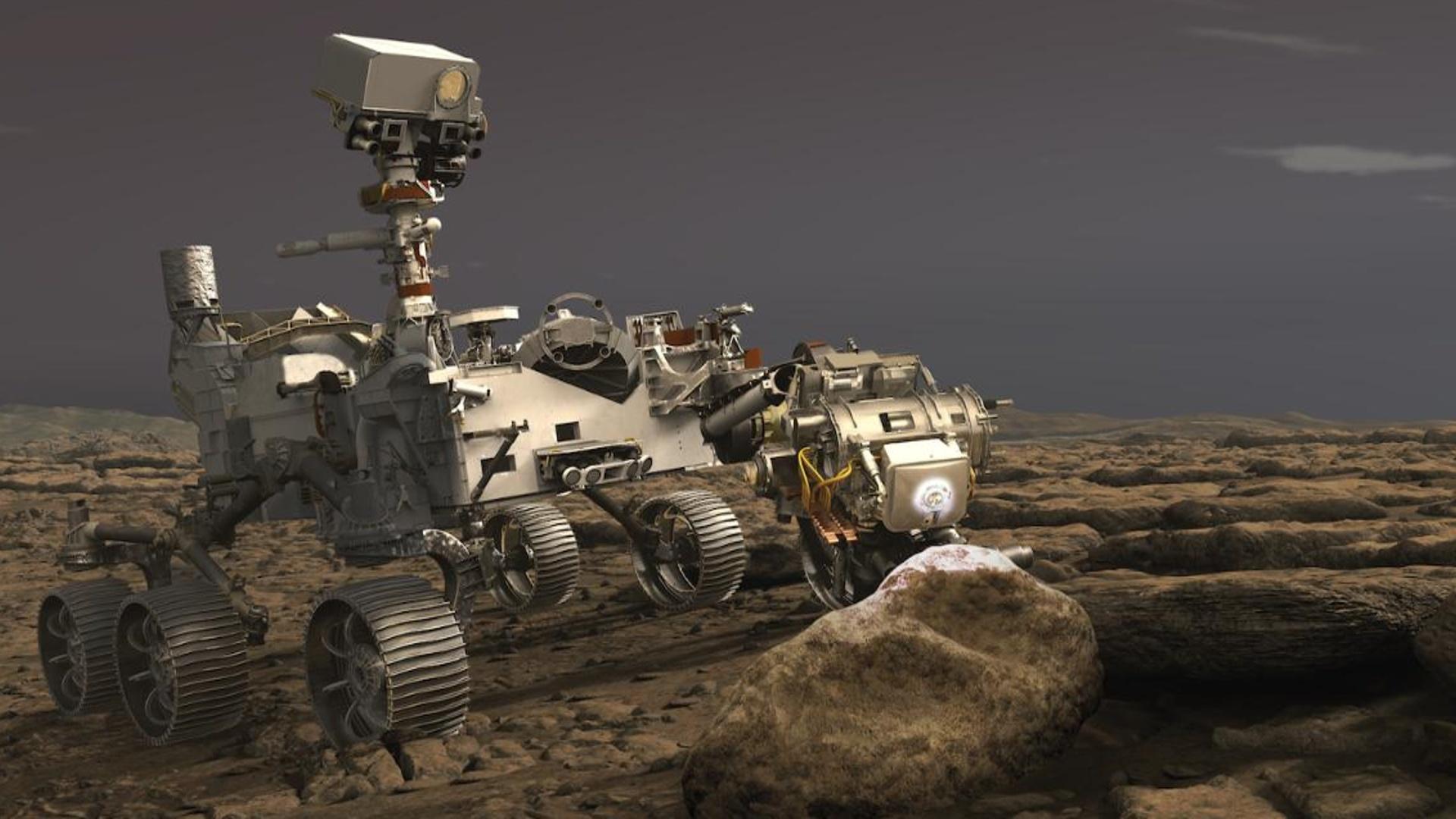 NASA-nın kosmik gəmisi Marsdan ilk qaya parçasını götürdü