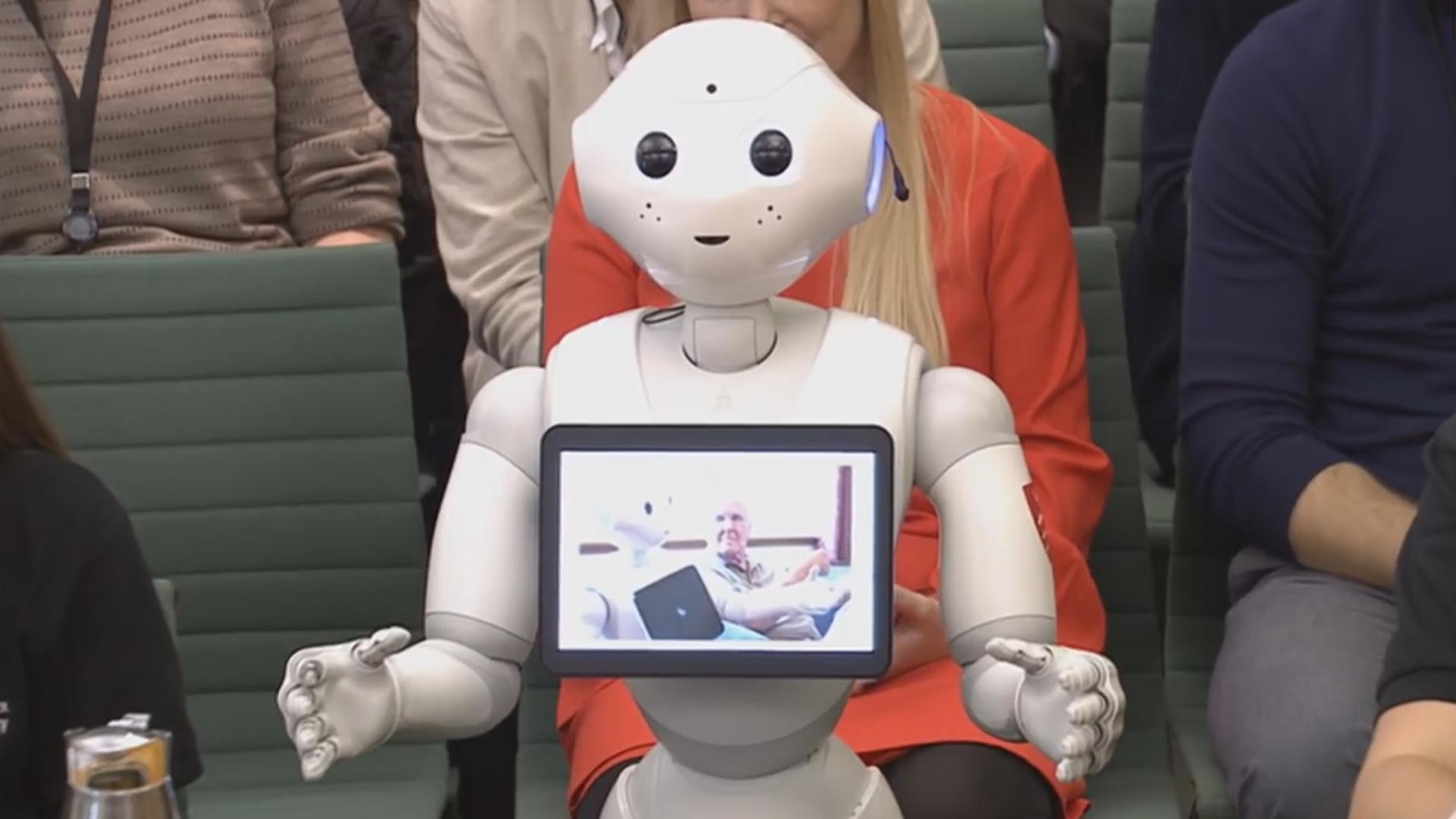 Robot tarixdə ilk dəfə parlamentdə çıxış edib