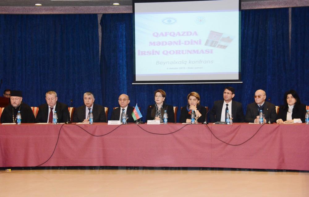 Qafqazda mədəni dini irsin qorunması mövzusunda beynəlxalq konfrans keçirilib