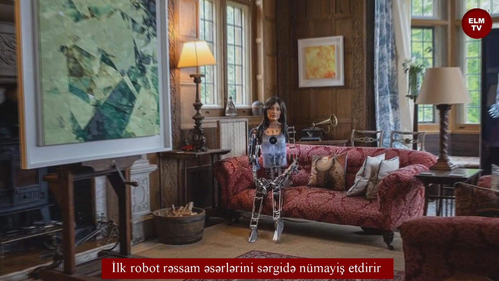 İlk robot rəssam əsərlərini sərgidə nümayiş etdirir