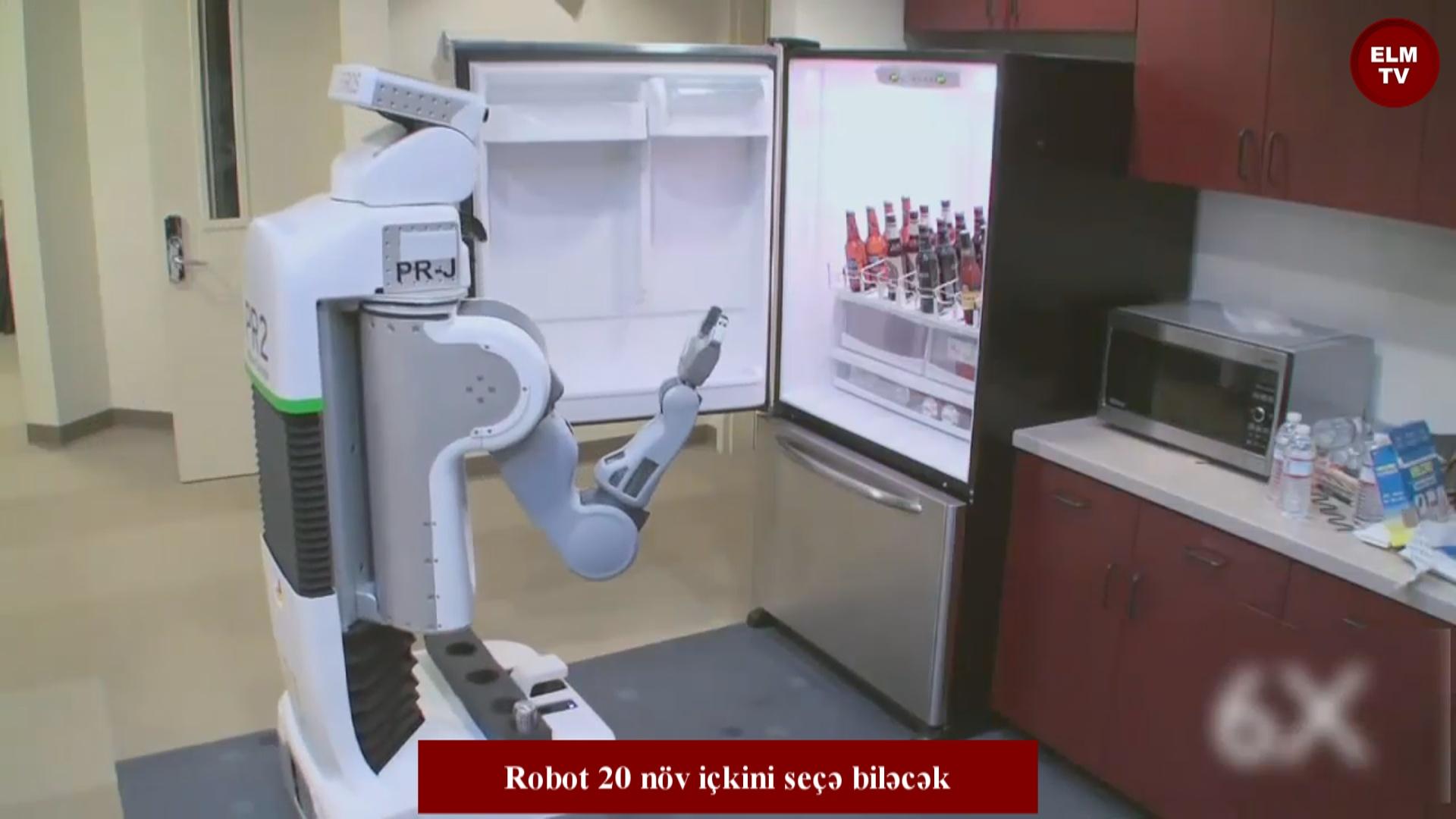 Robot 20 növ içkini seçə biləcək