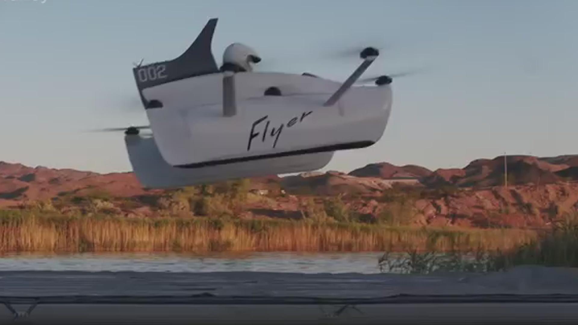 Birnəfərlik uçan aparat saatda 30 km sürətlə hərəkət edir