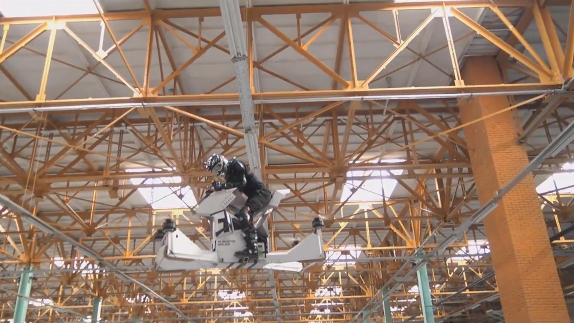 Rusiyada uçan elektrik motosikleti sınaqdan keçirilib