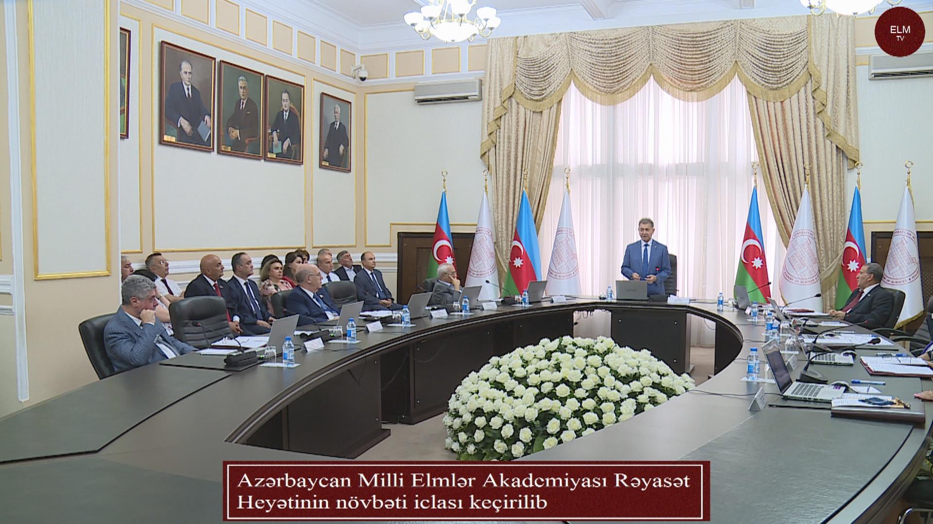 Azərbaycan Milli Elmlər Akademiyası Rəyasət Heyətinin növbəti iclası keçirilib