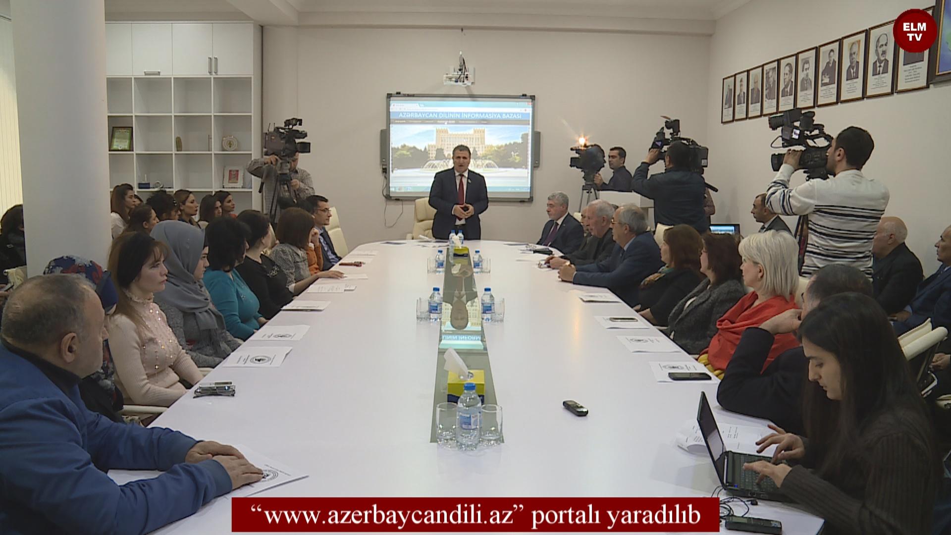 www.azerbaycandili.az portalı yaradılıb