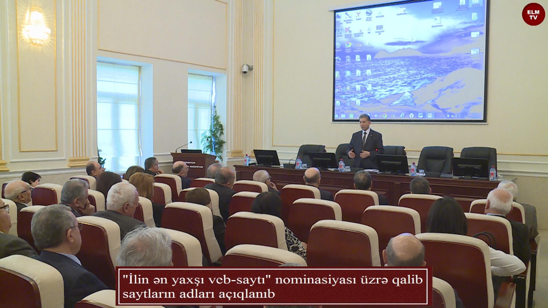 """""""İlin ən yaxşı veb-saytı"""" nominasiyası üzrə qalib saytların adları açıqlanıb"""