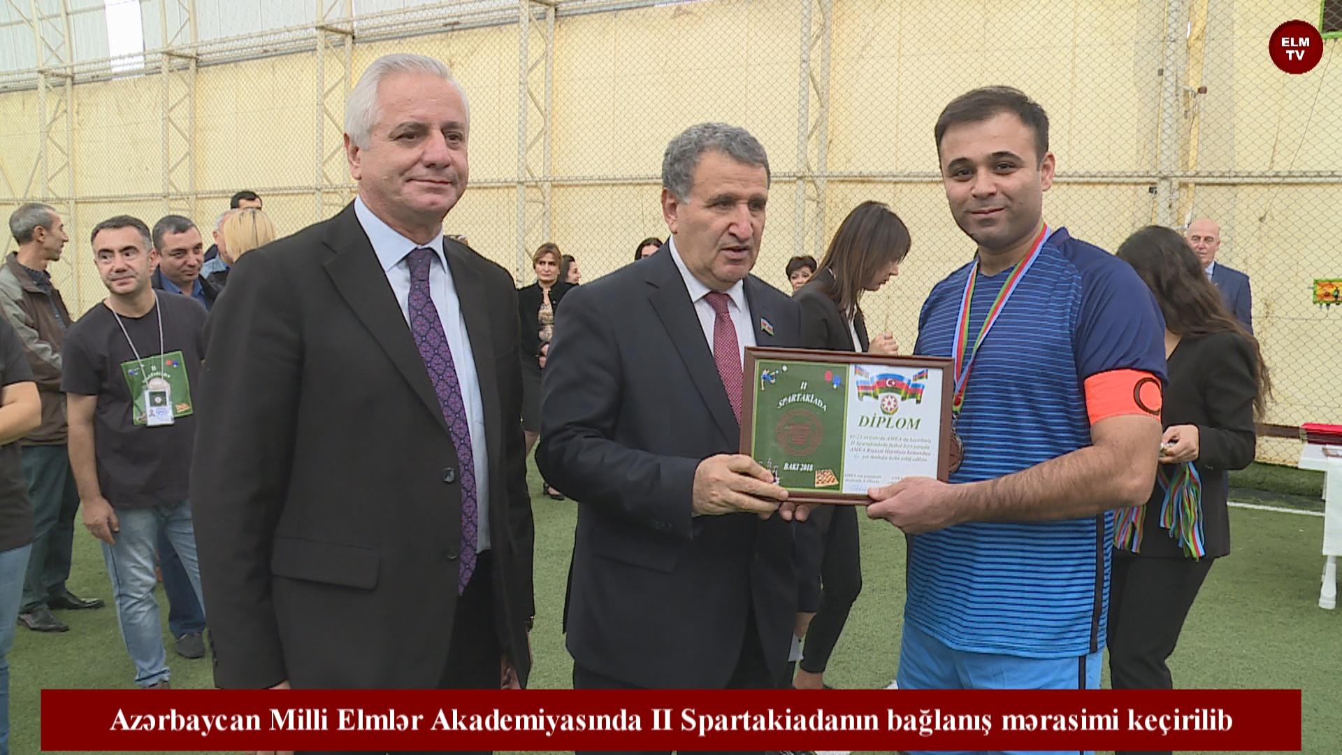 Azərbaycan Milli Elmlər Akademiyasında II Spartakiadanın bağlanış mərasimi keçirilib