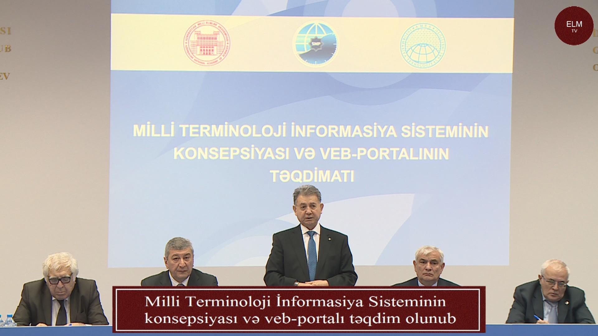 Milli Terminoloji İnformasiya Sisteminin konsepsiyası və veb-portalı təqdim olunub