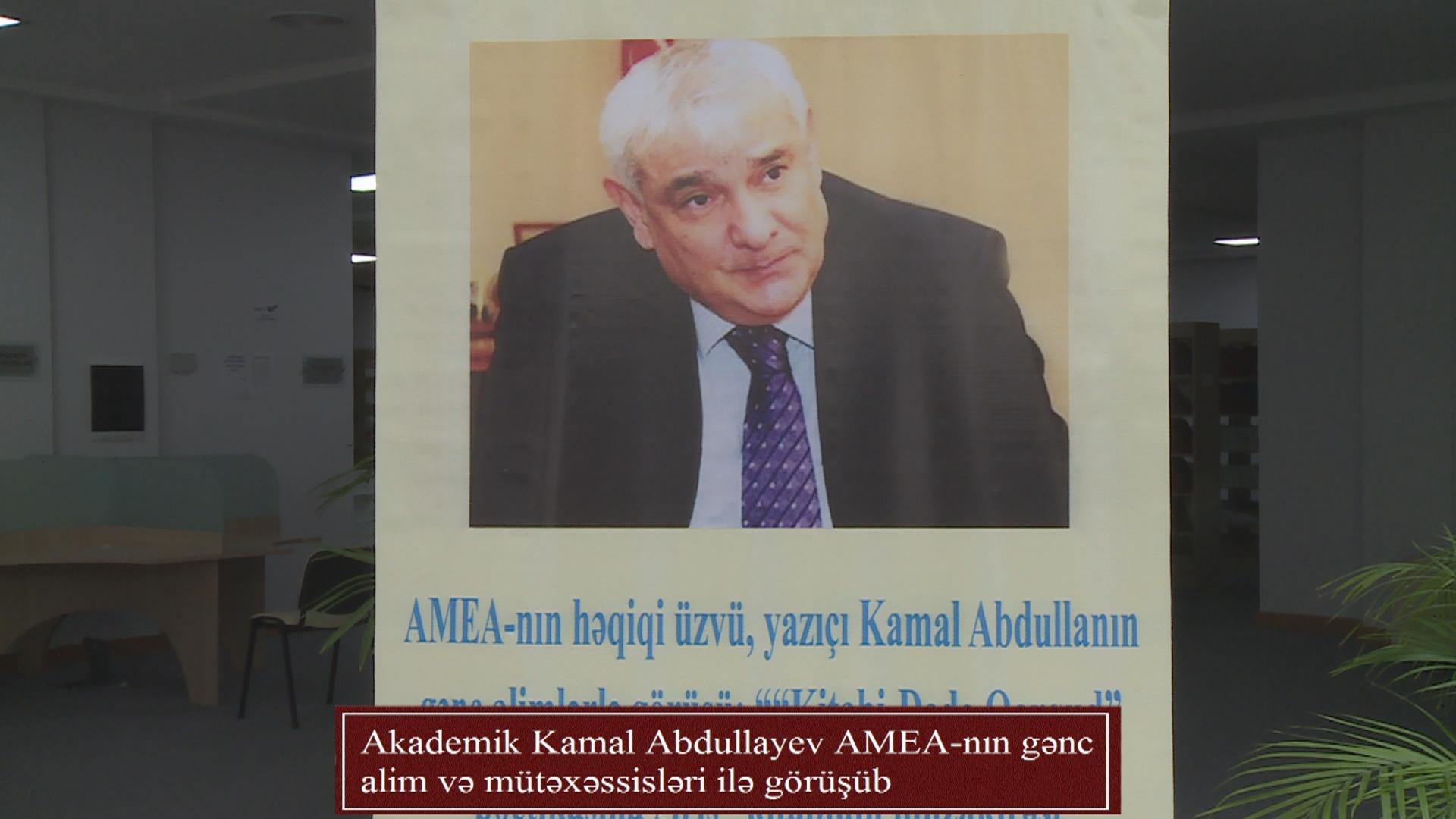 Akademik Kamal Abdullayev AMEA-nın gənc alim və mütəxəssisləri ilə görüşüb