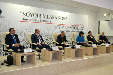 """""""Soyqırıma son"""" adlı beynəlxalq konfrans keçirilib"""