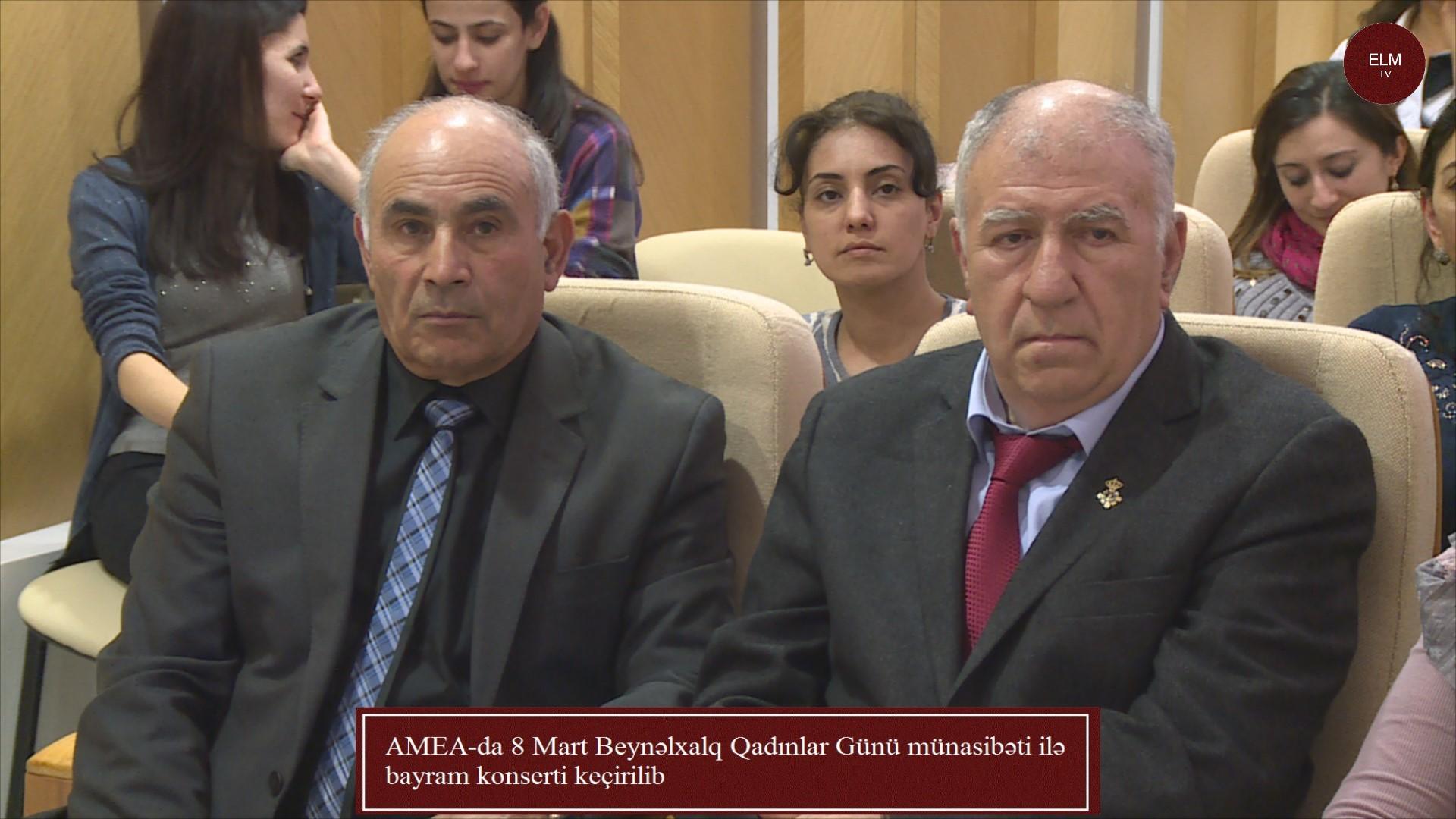 AMEA-da 8 Mart Beynəlxalq Qadınlar Günü münasibəti ilə bayram konserti keçirilib