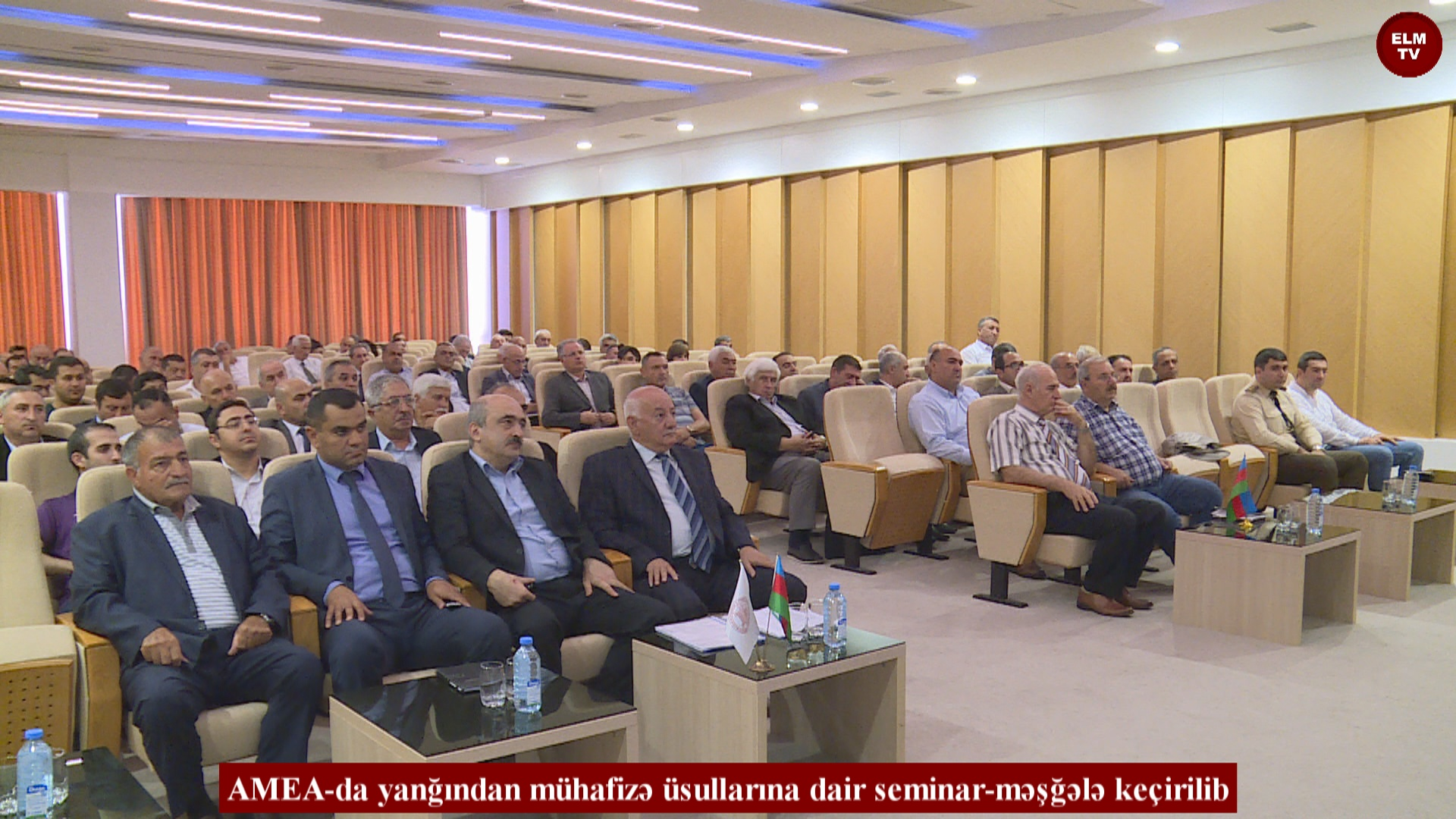 AMEA-da yanğından mühafizə üsullarına dair seminar-məşğələ keçirilib