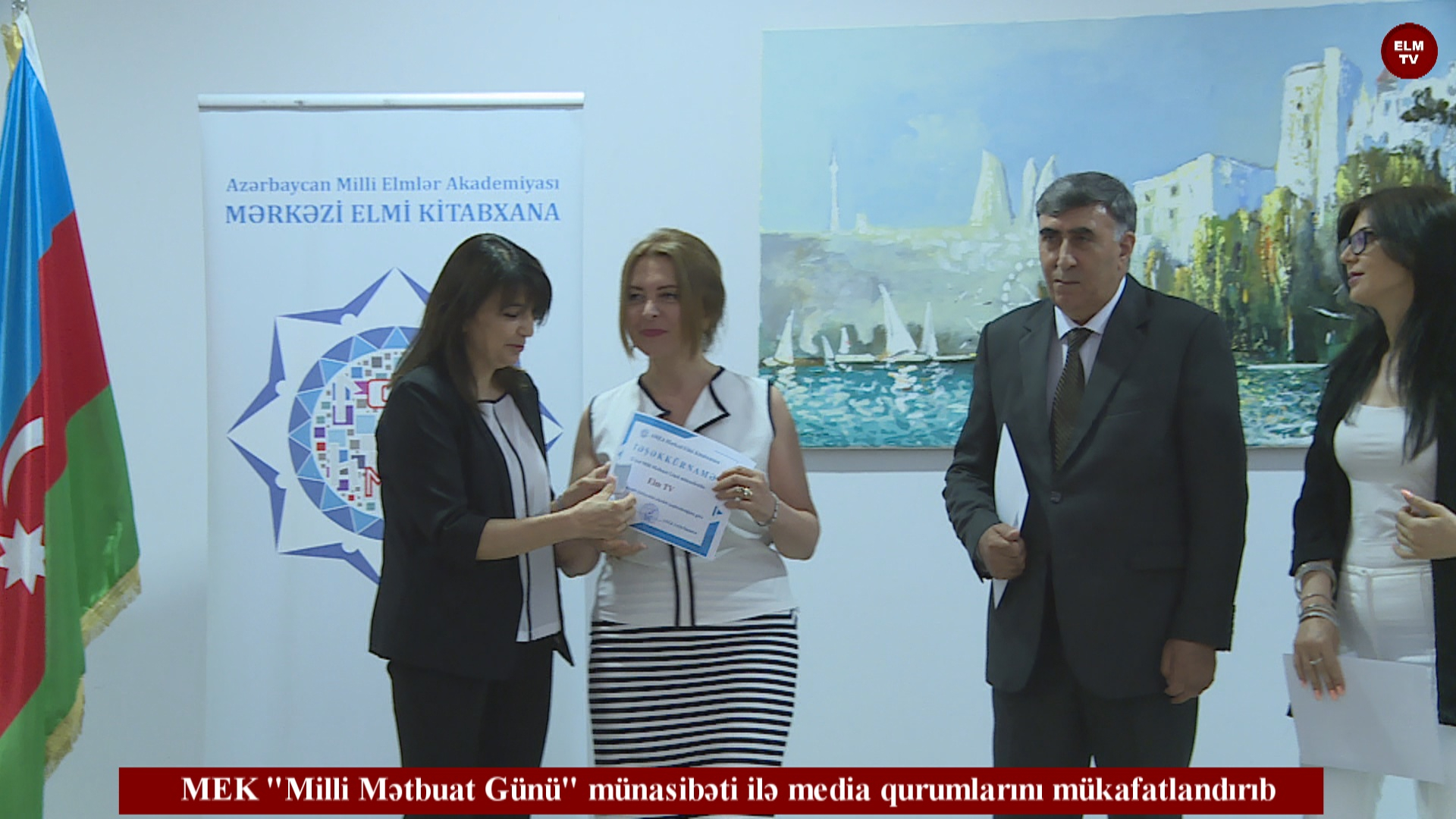 MEK  Milli Mətbuat Günü  münasibəti ilə media qurumlarını mükafatlandırıb