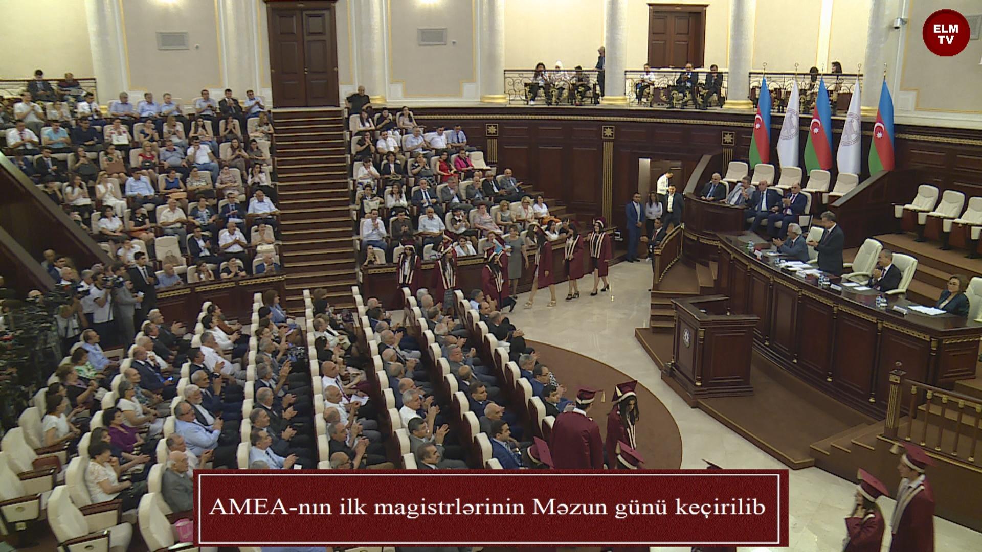 AMEA-nın ilk magistrlərinin Məzun günü keçirilib