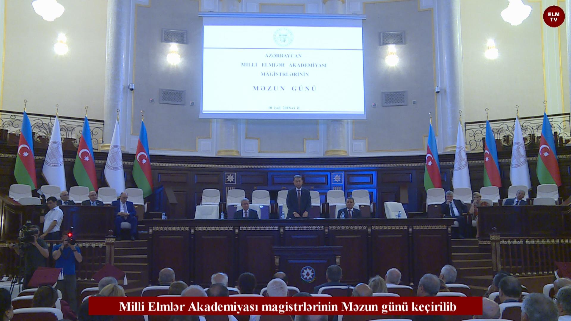 Milli Elmlər Akademiyası magistrlərinin Məzun günü keçirilib