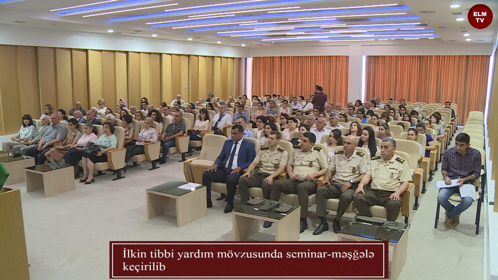 İlkin tibbi yardım mövzusunda seminar-məşğələ keçirilib