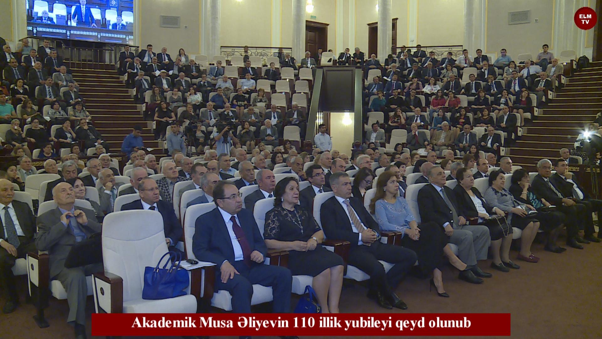 Akademik Musa Əliyevin 110 illik yubileyi qeyd olunub