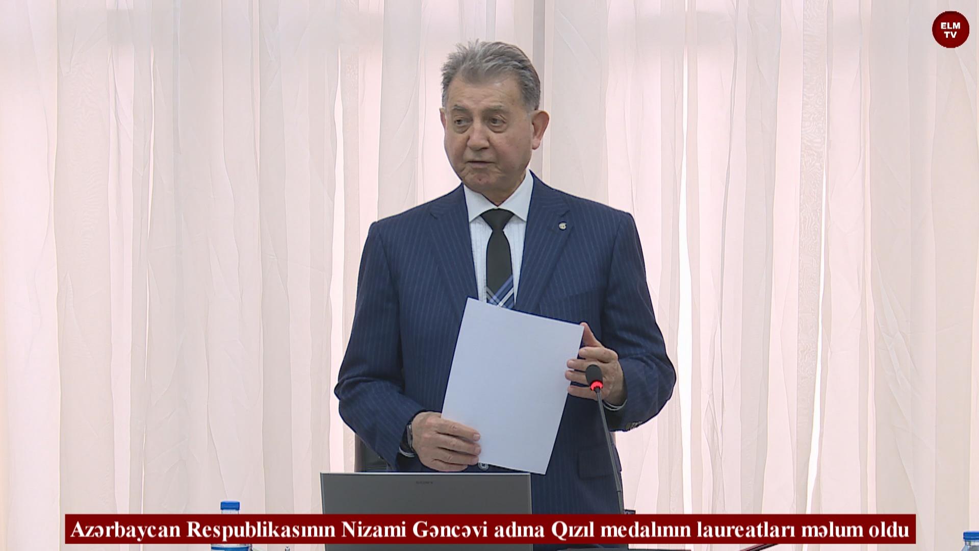 Azərbaycan Respublikasının Nizami Gəncəvi adına Qızıl medalının laureatları məlum oldu