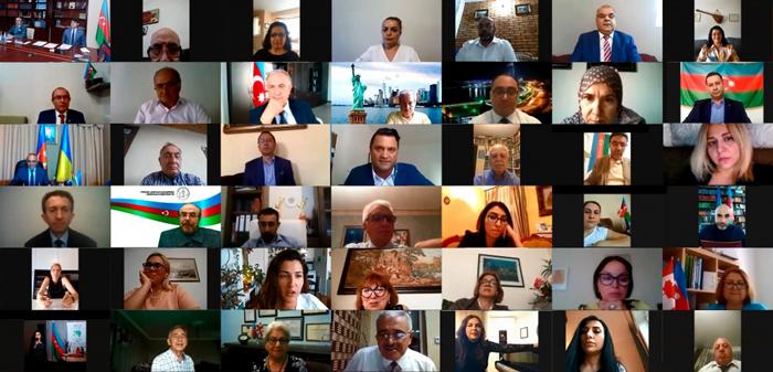 Diasporla İş üzrə Dövlət Komitəsinin yaradılmasının 18-ci ildönümünə həsr olunan videokonfrans keçirilib