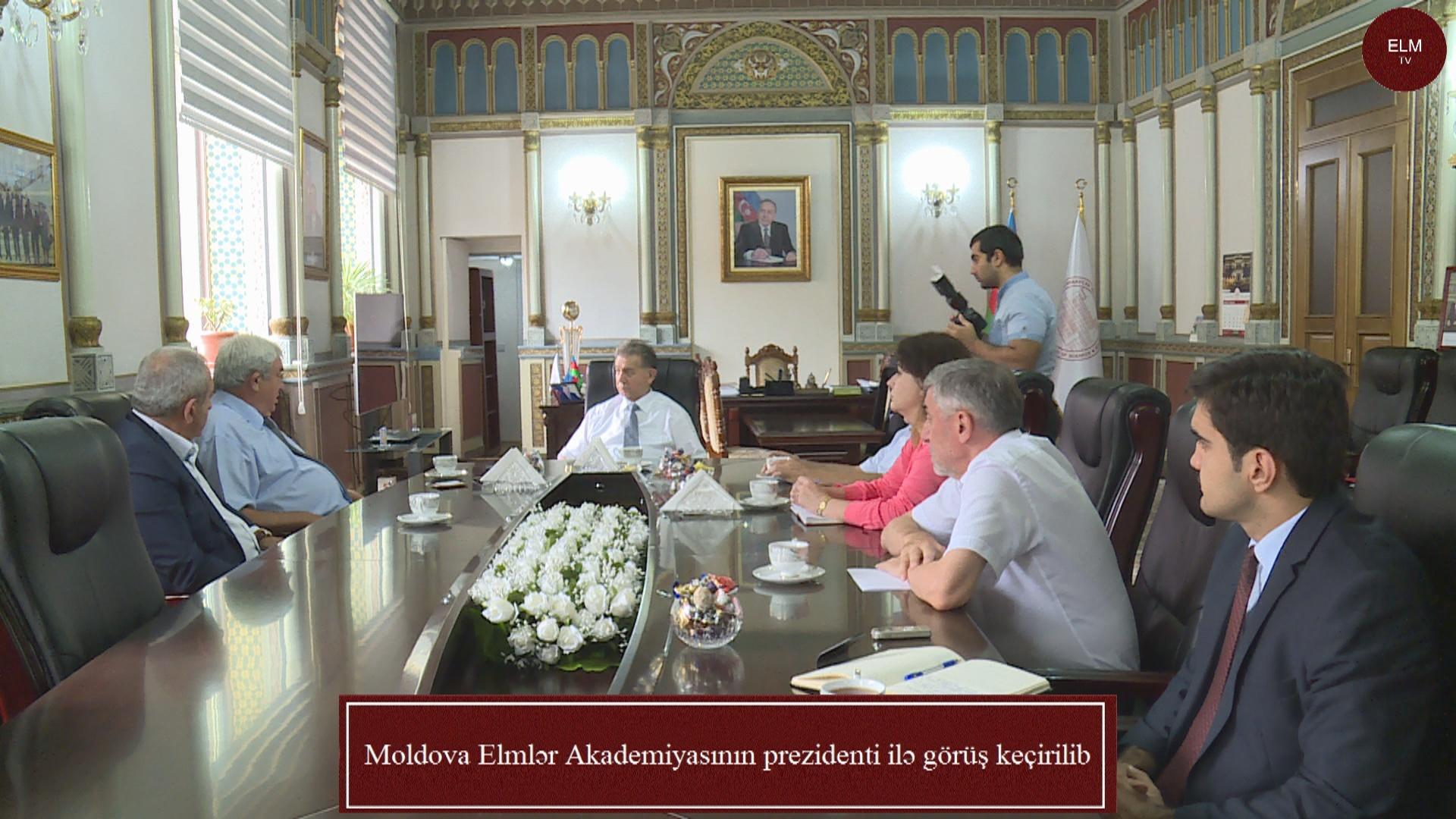 Moldova Elmlər Akademiyasının prezidenti ilə görüş keçirilib