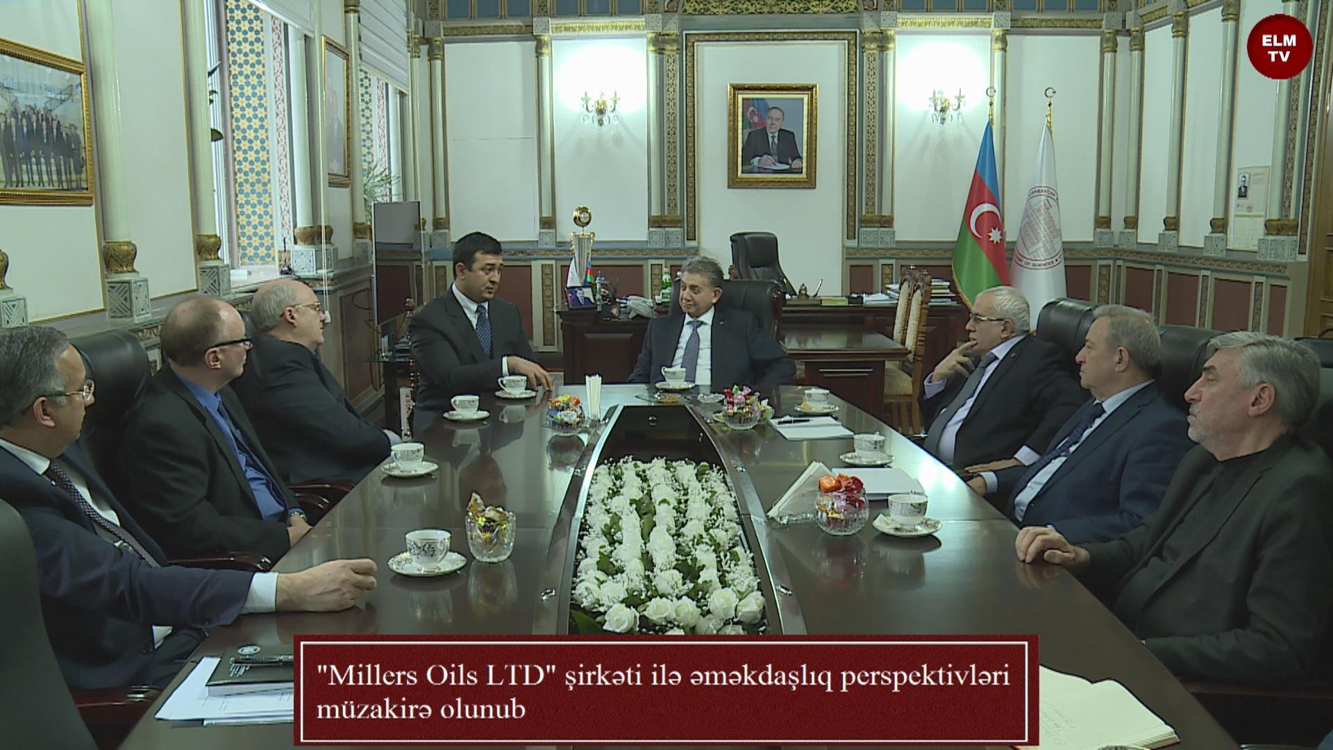 """""""Millers Oils LTD"""" şirkəti ilə əməkdaşlıq perspektivləri müzakirə olunub"""