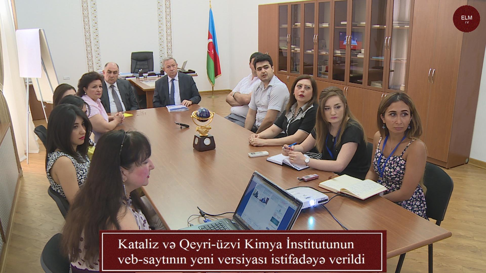 Kataliz və Qeyri-üzvi Kimya İnstitutunun veb-saytının yeni versiyası istifadəyə verildi