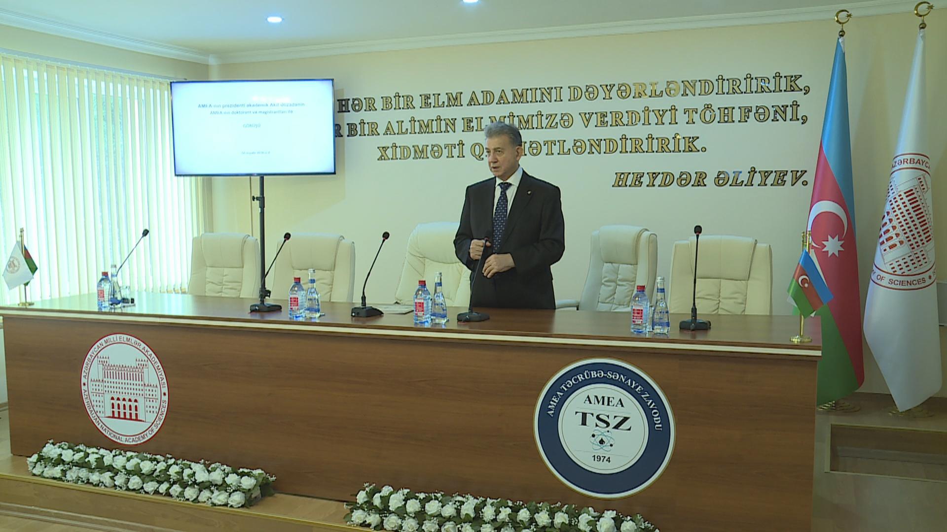 Gənclərin Azərbaycan elminin inkişafında rolunun artırılması istiqamətində mühüm addımlar atılır