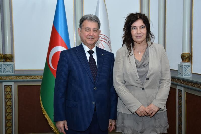 AMEA prezidenti Akif Əlizadə Bolqarıstan Respublikasının ölkəmizdəki səfiri ilə görüşüb