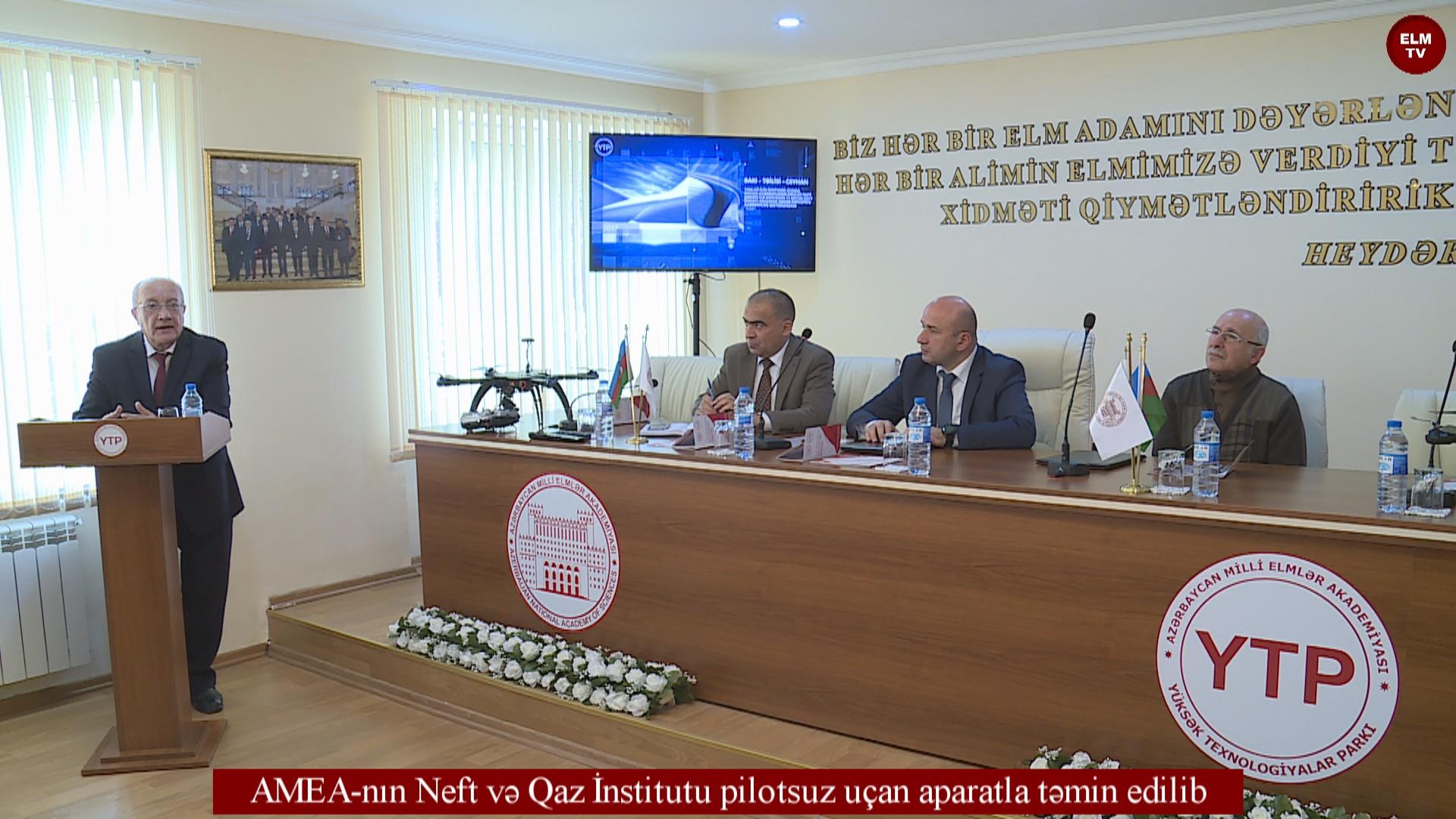 AMEA-nın Neft və Qaz İnstitutu pilotsuz uçan aparatla təmin edilib
