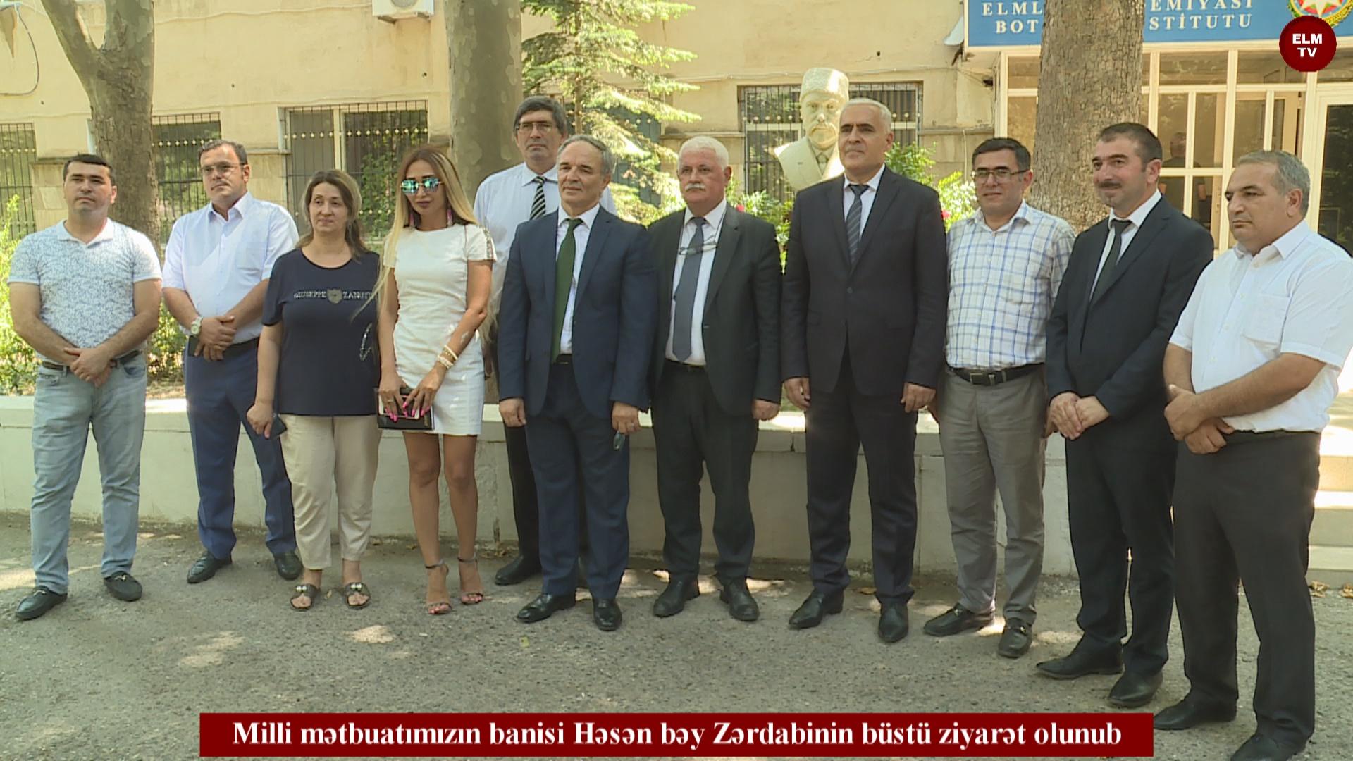Milli mətbuatımızın banisi Həsən bəy Zərdabinin büstü ziyarət olunub